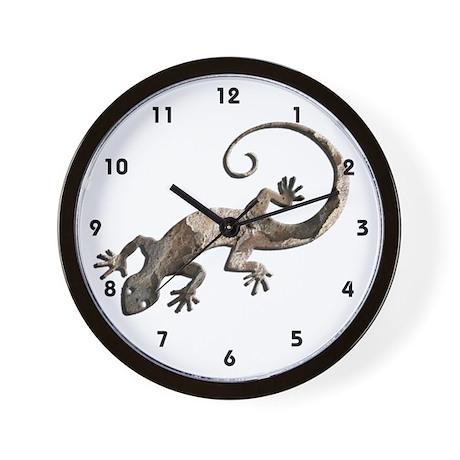 Brown Stone Gecko Wall Clock