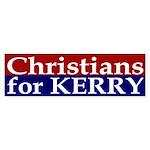 Christians for Kerry (bumper sticker)