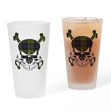 MacLaren Tartan Skull Drinking Glass