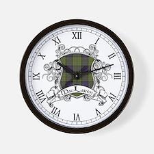 MacLaren Tartan Shield Wall Clock