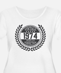 Vintage 1974 Aged To Perfection Plus Size T-Shirt