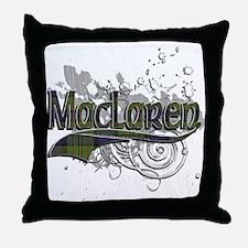MacLaren Tartan Grunge Throw Pillow