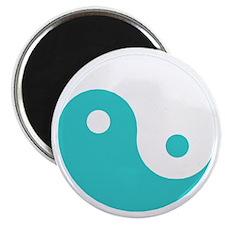Yin-Yang Teal Magnet
