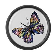 Exotic Butterfly Large Wall Clock