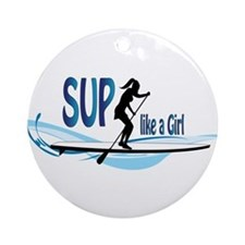 SUP like a Girl Ornament (Round)