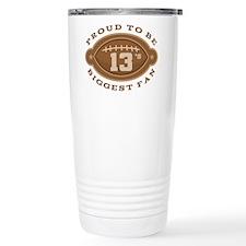 Football Number 13 Bigg Travel Mug