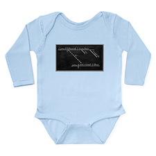 Cute Diagram Long Sleeve Infant Bodysuit