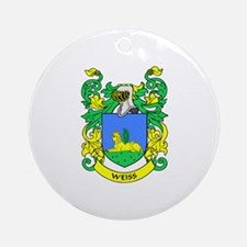 WEISS Coat of Arms Ornament (Round)