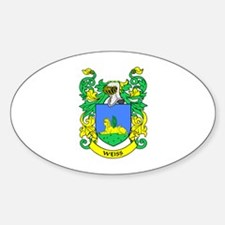 WEISS Coat of Arms Oval Decal