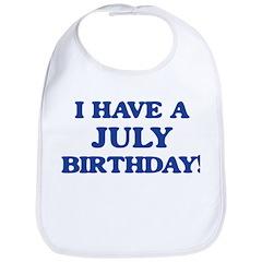 July birthday Bib