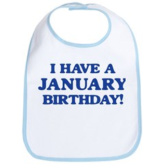 January birthday Bib