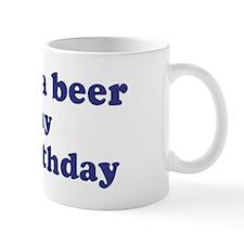 Buy me a beer: My 63rd Birthd Mug