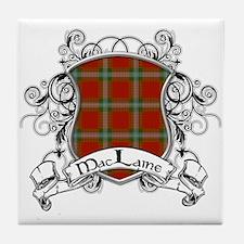 MacLaine Tartan Shield Tile Coaster