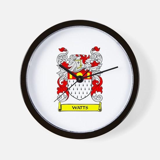 WATTS Coat of Arms Wall Clock