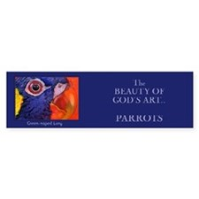 """The Beauty of God's Art- Parrot"" Bumper Bumper Sticker"