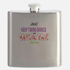Taking Chances/Having Fun-Garth Brooks Flask