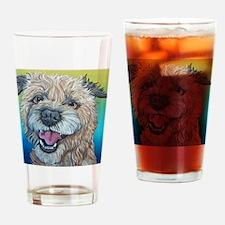 Border Terrier Dog Drinking Glass