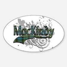 MacKirdy Tartan Grunge Sticker (Oval)