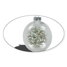 Christmas Ornament filled with money Decal