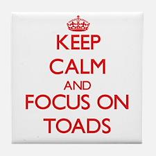 Cute Keep calm frog Tile Coaster
