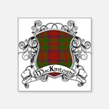 "MacKintosh Tartan Shield Square Sticker 3"" x 3"""