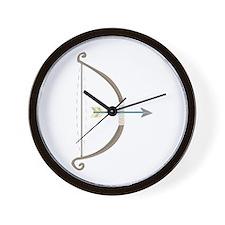 Bow and Arrow Wall Clock
