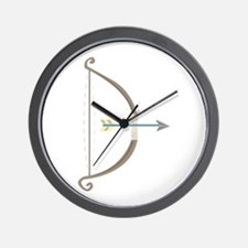 Bow and Arrow Wall Clock