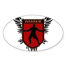 WARRIOR HEART Oval Decal