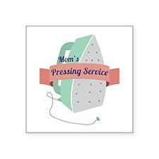 Mom's Pressing Service Sticker