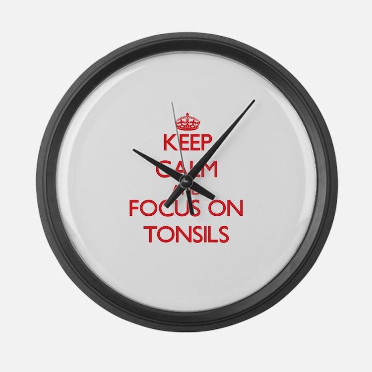 Cute Tonsils Large Wall Clock