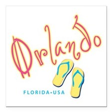 """Orlando - Square Car Magnet 3"""" x 3"""""""