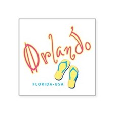 "Orlando - Square Sticker 3"" x 3"""