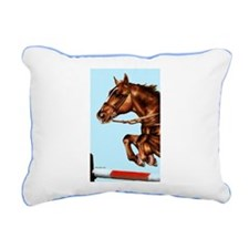 Jumping Horse Rectangular Canvas Pillow