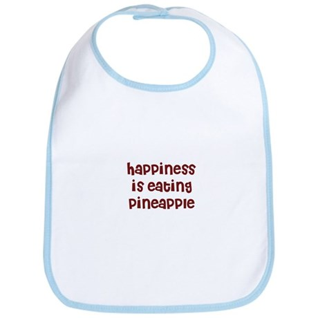 happiness is eating pineapple Bib