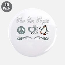 """Cute Penguins 3.5"""" Button (10 pack)"""