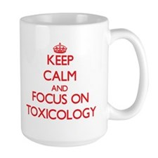 Keep Calm and focus on Toxicology Mugs