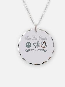 Unique Penguins love Necklace