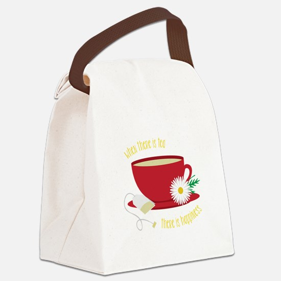 Tea Is Happiness Canvas Lunch Bag