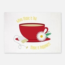 Tea Is Happiness 5'x7'Area Rug
