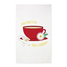 Tea Is Happiness 3'x5' Area Rug