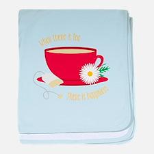 Tea Is Happiness baby blanket