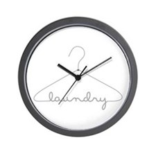 Laundry Hanger Wall Clock