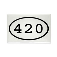 420 Oval Rectangle Magnet