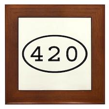 420 Oval Framed Tile