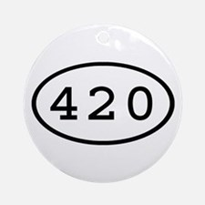 420 Oval Ornament (Round)