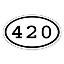 420 Oval Oval Decal