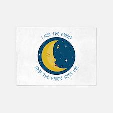I See The Moon 5'x7'Area Rug