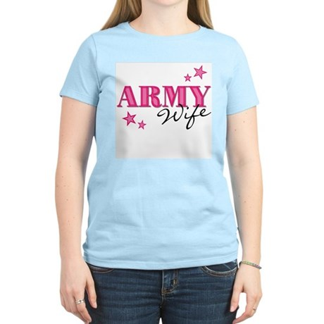 Army Wife w/stars Women's Light T-Shirt