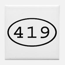 419 Oval Tile Coaster