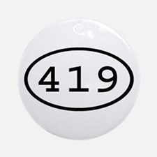 419 Oval Ornament (Round)
